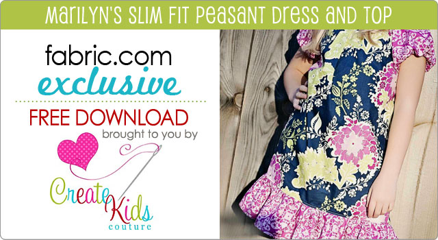 Free Pattern Download Marilyn's Slim Fit Peasant Dress & Top