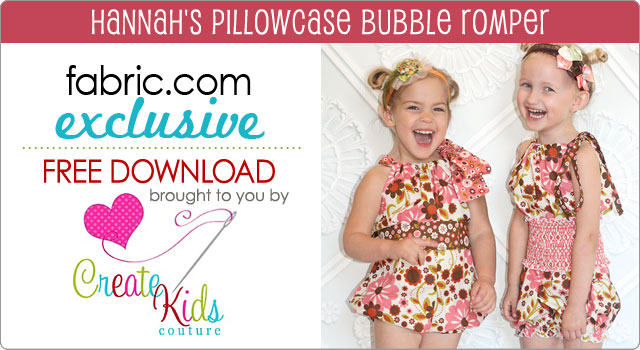 Free Pattern Download Hannah's Pillowcase Bubble Romper