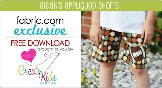 Free Pattern Download Boy's Shorts