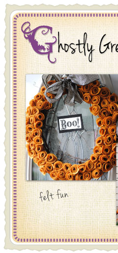 Make an easy felt wreath!